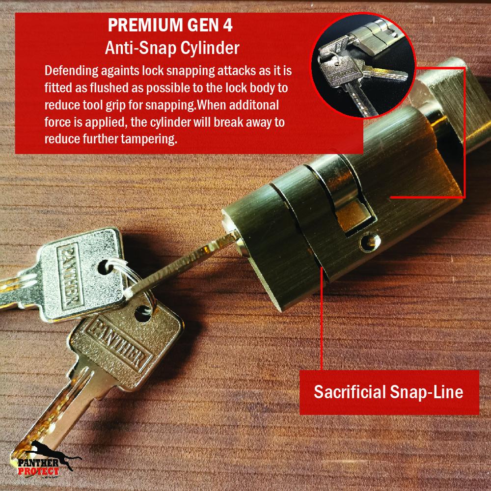 Panther Protect Premium Anti-Snap Cylinder Gen 4